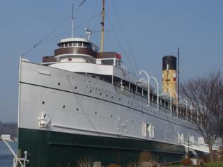 Steamship Keewatin at dockside in Port McNicoll