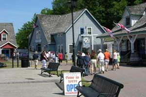 Outside Mr. Chiles' Chandlery at Discovery Harbour