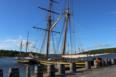 Replica ships H.M.S. Bee and H.M.S. Tecumseth at Discovery Harbour