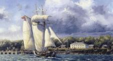 Painting of the schooner H.M.S. Nancy by Peter Rindlisbacher